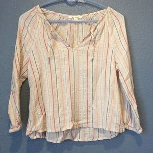 Top with pastel stripes